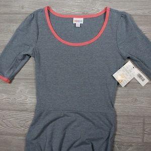 LuLaRoe Ana Long Maxi Dress Grey/Blue Red Size XS